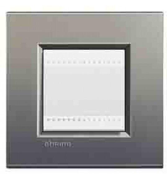 LNA4802AE Cover plate 2 M Gri Living Light Bticinio