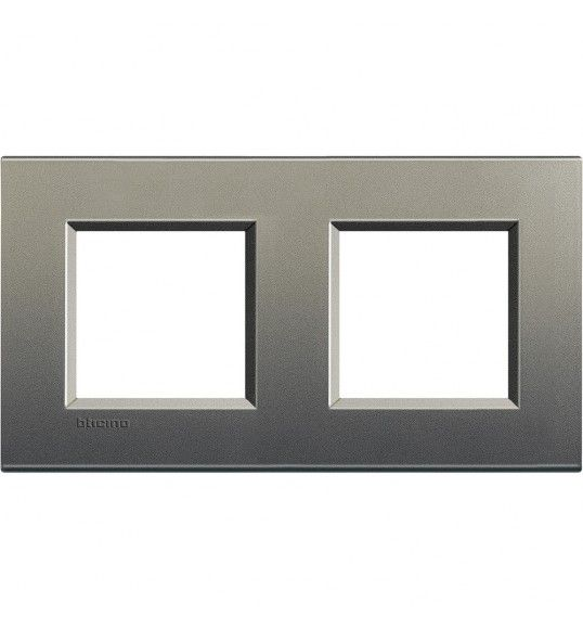 LNA4802M2AE Cover plate 2+2 M Gri Living Light Bticinio