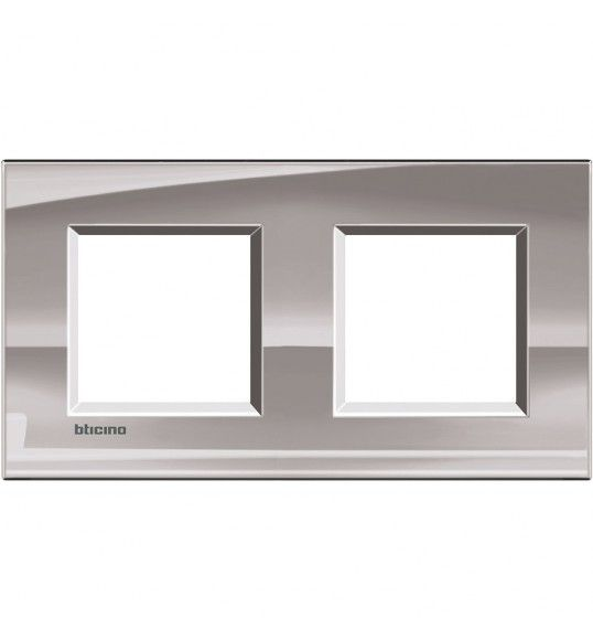 LNA4802M2NS Cover plate 2+2 M Nickel Living Light Bticnio