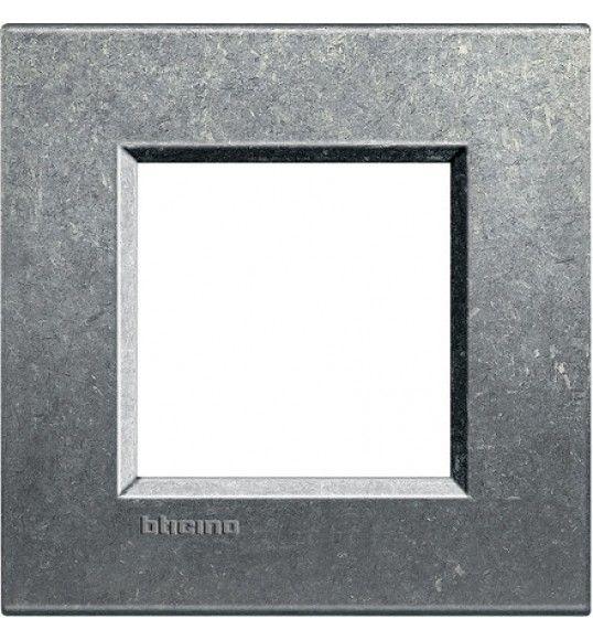 LNA4802NA Cover plate 2 M Grey Natural Living Light Bticino