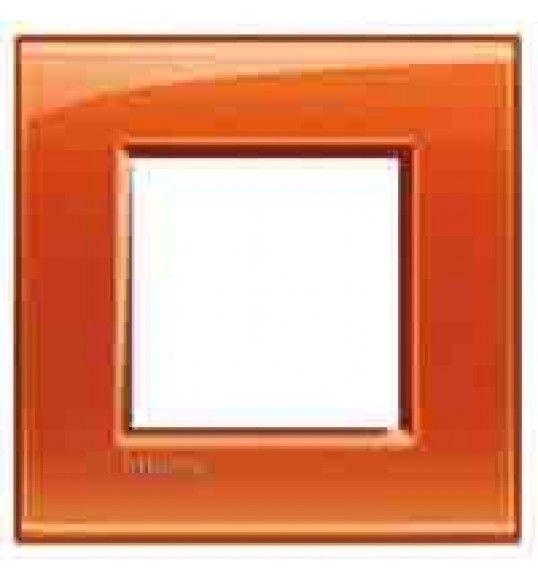 LNA4802OD Cover plate 2 M Orange Living Light Bticinio