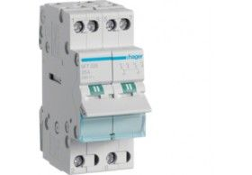 SFT240 2-pole, 40A Centre Off Modular Changeover Switch with Top Common Point
