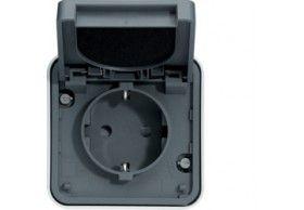 WNC160 cubyko s - Socket Schuko, grey