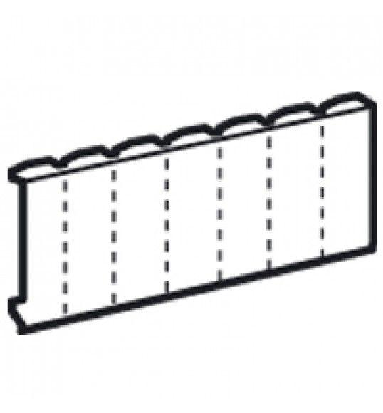 001660 Blank plate 5 module