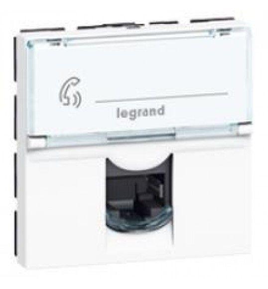 076565  Legrand MOSAIC RJ45 CAT.6 FTP 2MD