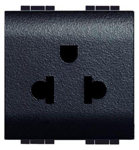 L4126 Socket 2P+E (EURO-US) 2MD Anthracite Living Light