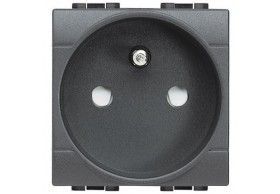 L4142 Socket 2P+E (France) 16A 2MD Anthracite Living Light