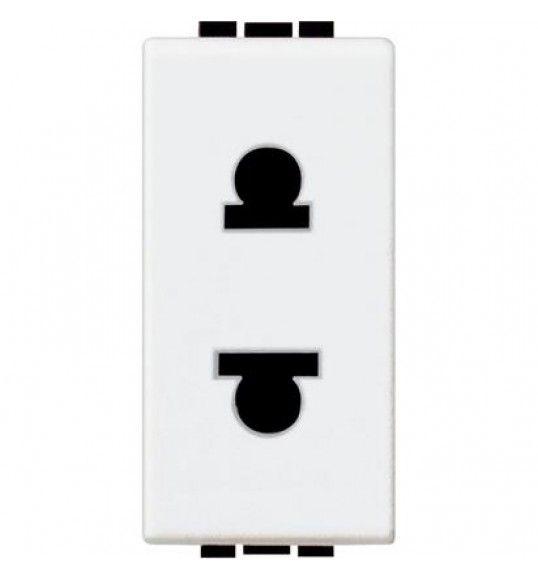 N4125 Tomada 2P (EURO-US) 1módulo Branco