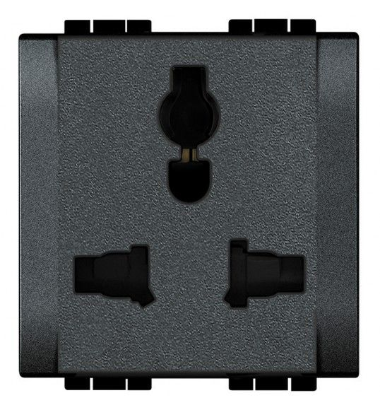 L4139 Socket 2P+E Multi-Standard 2MD Anthracite Living Light
