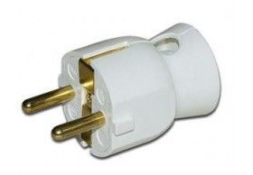 050316 Male plug 2P+E lateral white