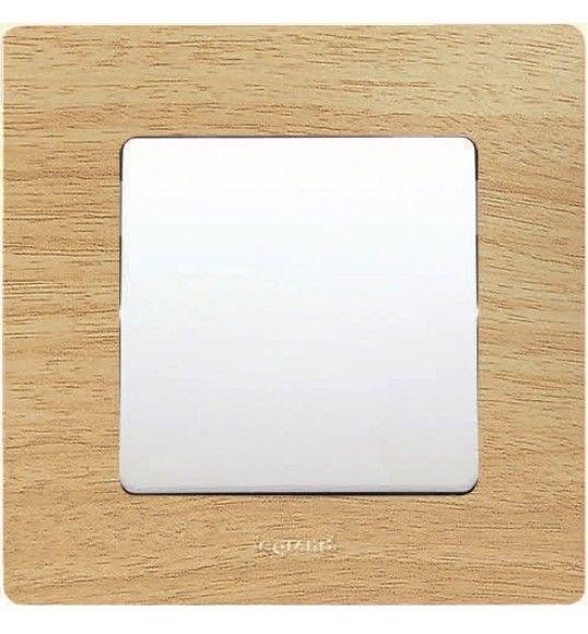 397095 Quadro simples madeira clara Niloe