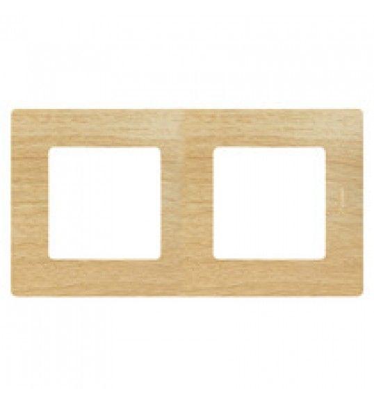 397096 Quadro duplo madeira clara Niloe