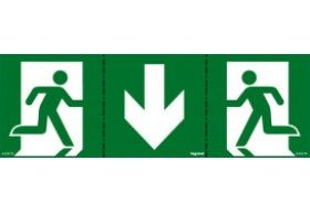 661670 Label for emergency lighting luminaires - exit door below - 100 x 200 mm