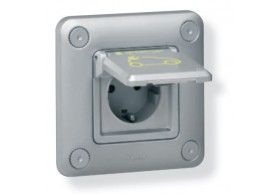 077856 IP 55 - IK 10 flush-mounting - metal socket Green Up