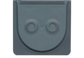 WNA690 cubyko - Inlet for 2 cables, grey